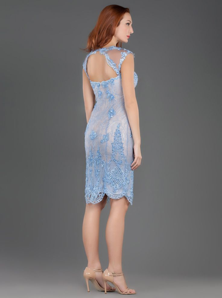 Short Lace Dress with Beading http://www.mikael.gr/en/new-collection/80930.html