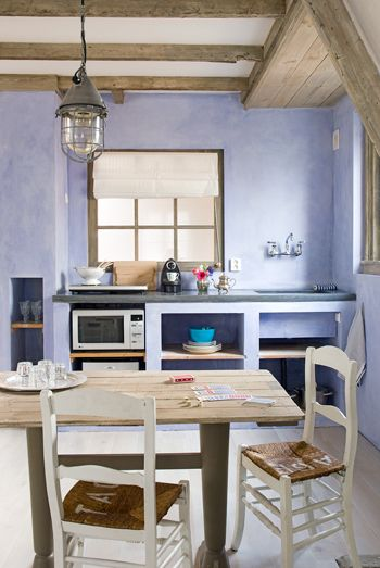 Make your own kitchen. Love the open plan and concrete, so simple. Been at this guesthouse, it's lovely