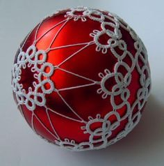 tatted christmas ball variegated thread - Google Search