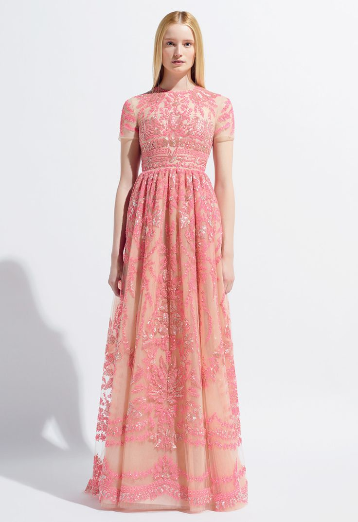 2014 Valentino Wedding Gown in pink so lovely