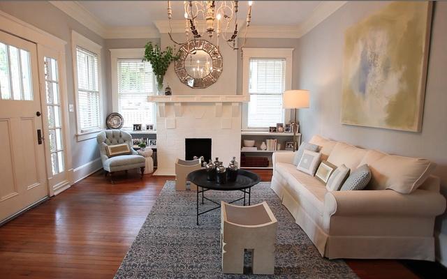 Candler Park living room by Atlanta's Claire Watkins Interior Design.  #CWID #ClaireWatkins