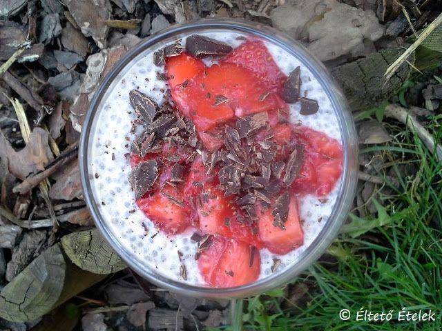 Éltető ételek: Vaníliás-epres chiapuding