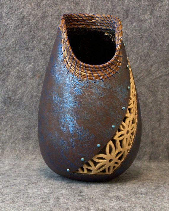 Fine Gourd Art Twightlight Blooms by KStarGourdCreations on Etsy