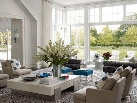 Modern contemporary coastal style decor white walls for Coastal contemporary