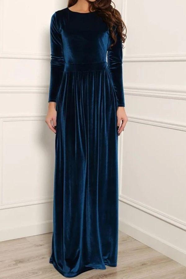 Velvet Dress Velvet Dress Long Elegant Dresses Long Sleeved Velvet Dress
