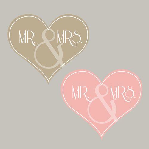 Freebie: Herz Mr. & Mrs.