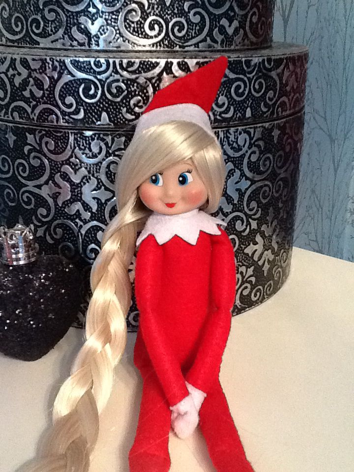 Our New Elf On The Shelf With Hair Remove Hat Glue Gun