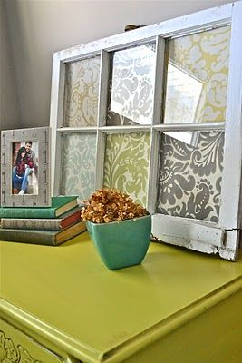 Old window with fabric!
