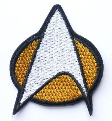 STAR TREK Federation Star Fleet Emblem Iron / Sew On Embroidered Patch Art & Craft: Amazon.co.uk: Toys & Games