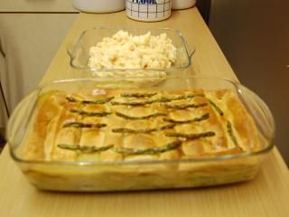 Chicken, Asparagus, Mushroom Pie