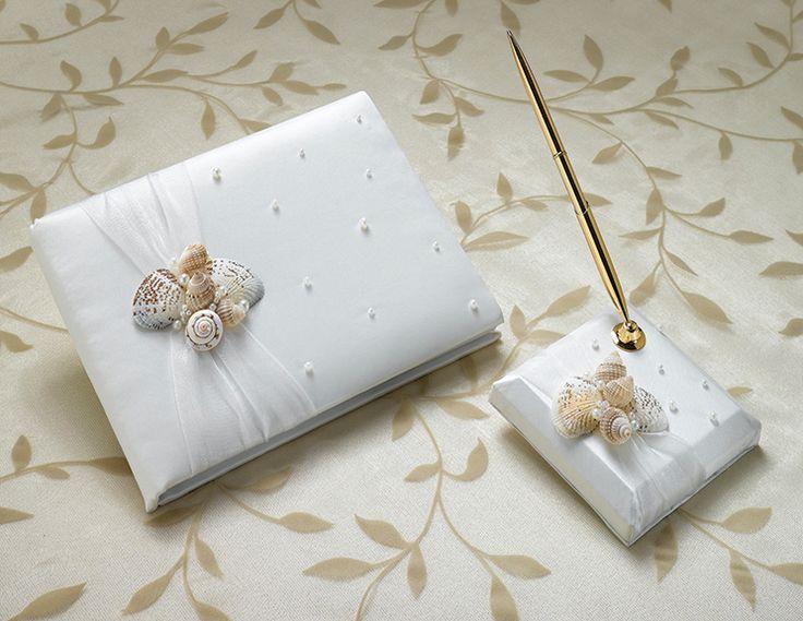 Seashell Guest Book and Pen Set - Wholesale Favors #favor #gift #cheap #weddingfavor #fashion #personalize