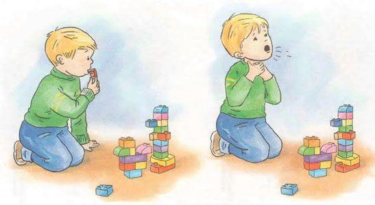 Colocar en la boca juguetes pequeños