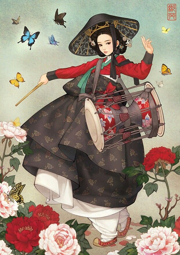 #korean #asian #art #illustration #drum #music  http://www.digu.com/pin/tewpojxvtw2pokn