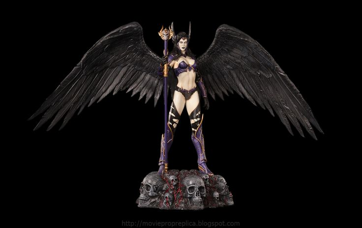 Fantasy Figure Collection: Alysha, Angel of Darkness ¼th Scale Painted Polystone Statue