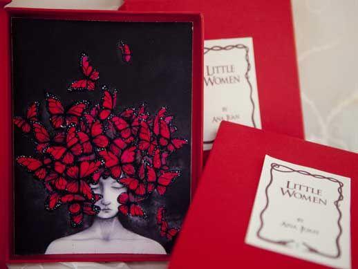 Little woman 01 de Ana Juan. Estampa digital con impresión múltiple editada por No time, estampada en el Taller de Serigrafía Manolo Gordillo