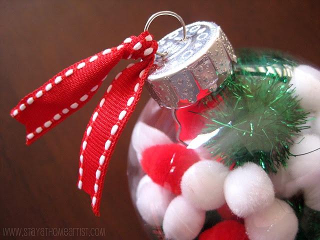 pom pom christmas ornaments...fun gift kids can make for x-mas