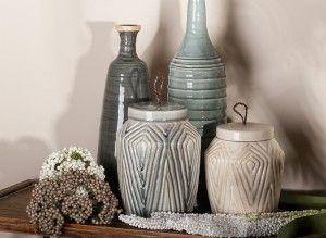 Jarrón cerámica decoración