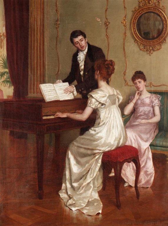 The Song, 1891 ~  Charles Haigh-Wood ~ (British, 1856-1927)
