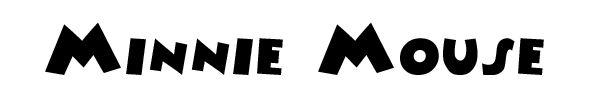FREE Minnie Mouse Font #DIY #Disney #Fonts