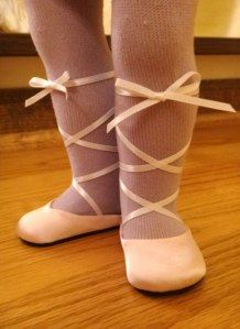 DIY American Girl Doll Ballet Slippers Craft