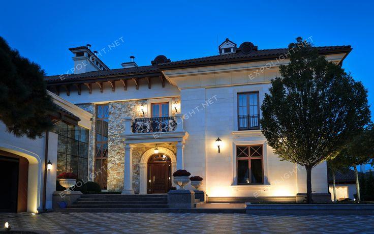 Одесса, частный дом, lighting, ландшафтное освещение, освещение благоустройства, освещение территории, подсветка фасада, освещение экстерьера, освещение, свет, lighting