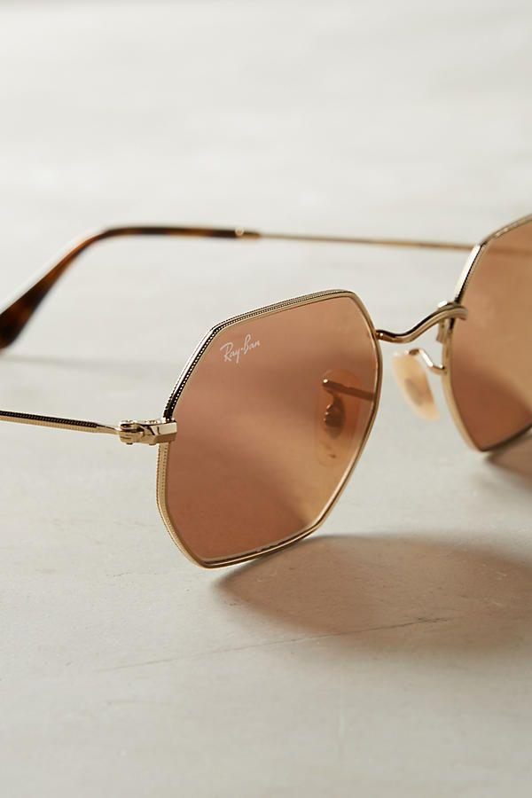 Ray-Ban Hexagonal Mirrored Sunglasses