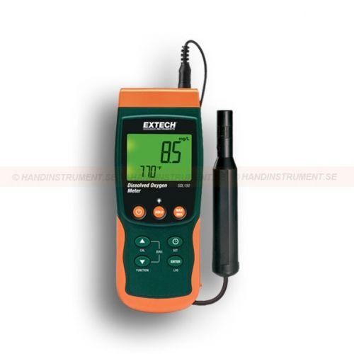 http://termometer.dk/labinstrument-r12931/malere-sd-logger-fri-oxygen-53-SDL150-r35335  Målere / SD logger fri oxygen  Dobbelt baggrundsbelyst display af ilt koncentration og temperatur  Måling af ilt 0-20,0 mg / L og fra 0 til 100,0% ilt, herunder temperatur fra 0 til 50 ° C Automatisk temperaturkompensation fra 0 til 50 ° C i løbet af temperaturføleren sensor med indbygget polarografisk ilt sonde Offset justering bruges til justering af nul at gøre relative målinger...