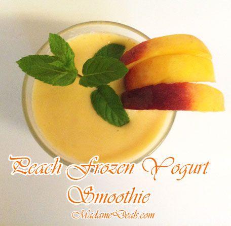 Blog post at Madame Deals, Inc. : Peach Smoothie Recipe Peach Frozen Yogurt Recipe   A frozen fruit snack or dessert is always welcomed around here due to the high temper[..]
