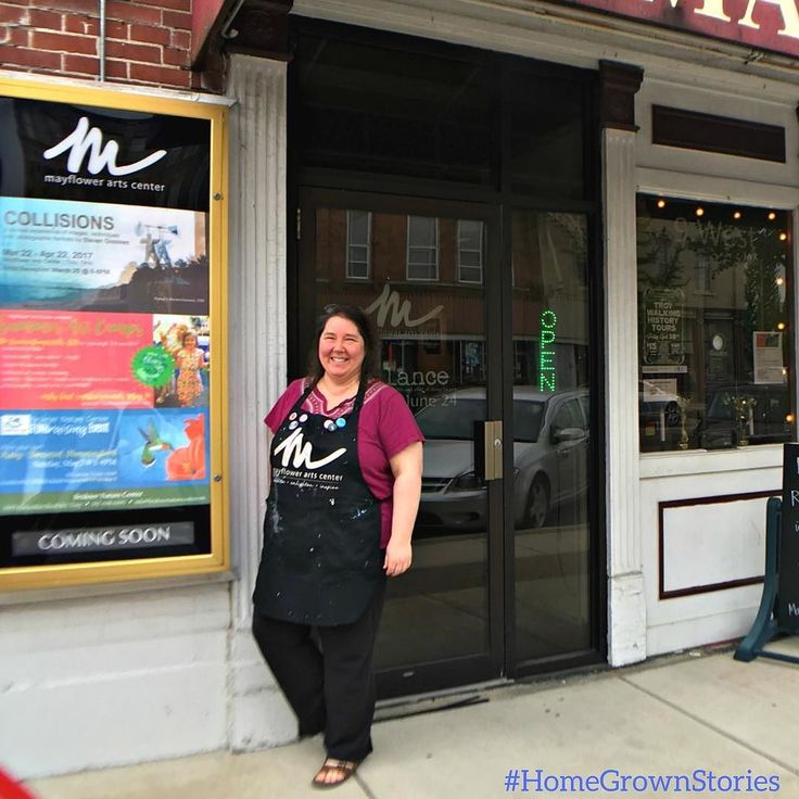 #HomeGrownStories - Lisa Bauer a Clark County native has given new life to a piece of downtown Troy history. In 2012 she bought the building which was the Mayflower Theatre. The building is now home to  the @mayflowerartscenter where Lisa is the director. Today the Mayflower offers painting parties art classes and art exhibitions in downtown Troy.  The history of the Mayflower Arts Center:  Im learning a lot about the history of the building. The Mayflower Theatre opened on January 31 1928…