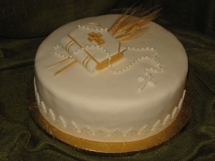 gorgeous Bible cakes | ... Bible, Rosary and natural wheat. A delicious Vanilla cake filled with