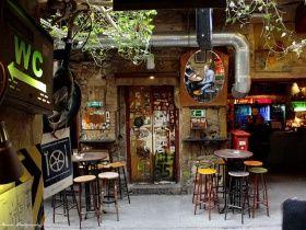The most popular ruin pub, the Szimpla Kert