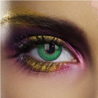 Lenses of the Week - Colourvision Green 3 Tone... These Green Colourvision Contact Lenses combine natural, earthy tones with a vibrant colour, bringing the best of both worlds to your new eye makeup look! #eyecandy #eyes #lookbook #vibrant #natural #earthy #green #intense #makeup