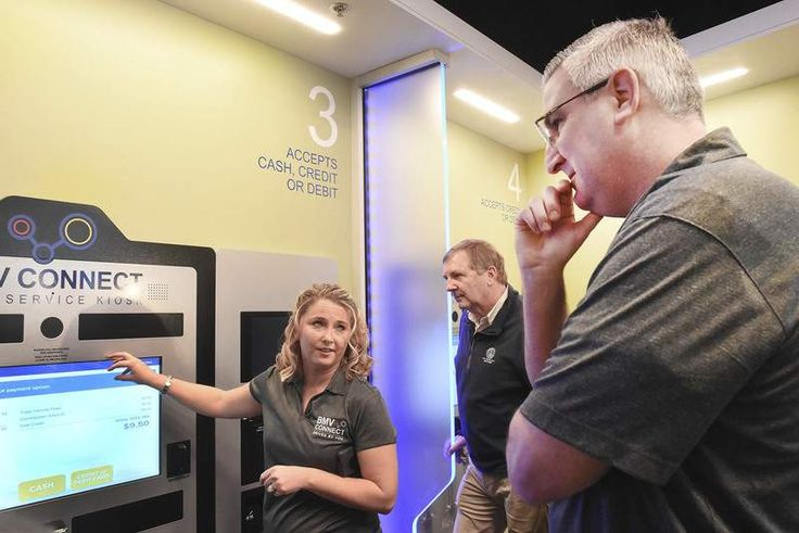 It's as easy as using a smartphone. That was Indiana Gov. Eric Holcomb's assessment of a new touch-screen-based system for completing many routine transactions at the state Bureau of Motor Vehicles.
