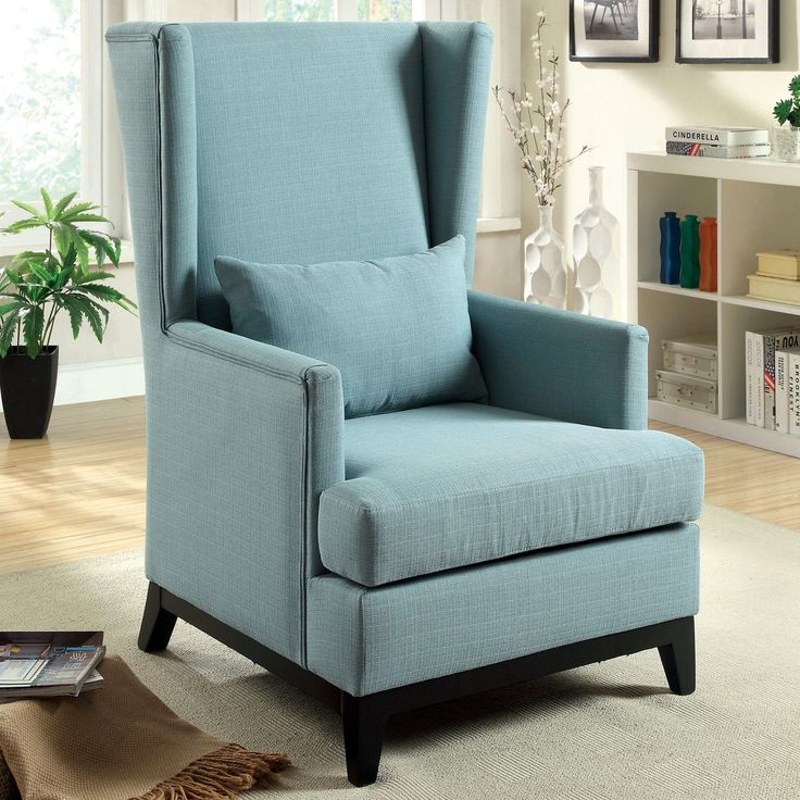 furniture of america maxwell flax fabric upholstered accent chair from