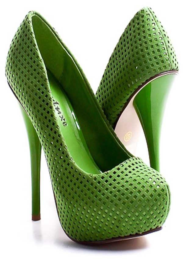 6a7c259dd6fe Tendance chausseurs   Kelly Green High Heel Shoes