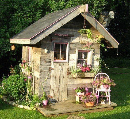 39 Pretty Small Garden Ideas: Beautiful Little Garden Shed