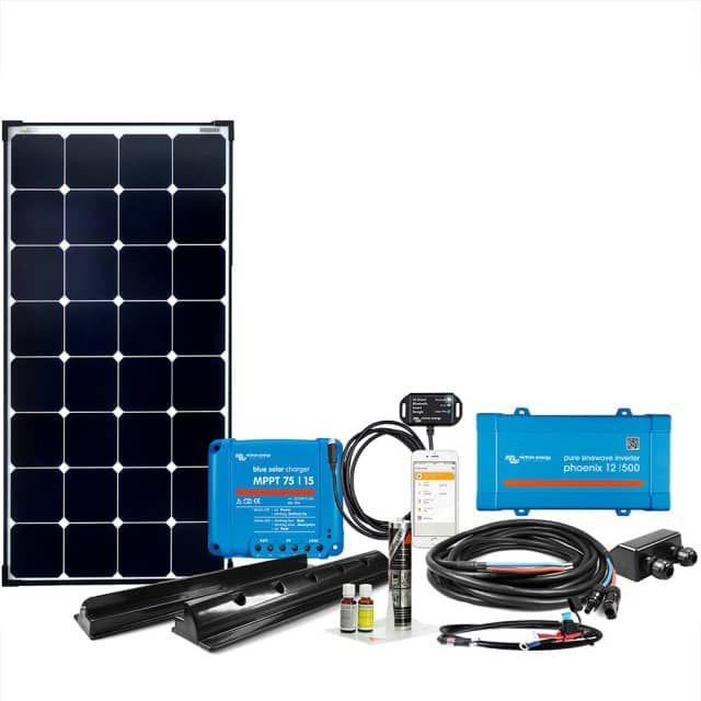 Die Offgridtec 009735 mComfort VEcore SPR 100W 12V 230V ist eine leistungsstarke Caravan Solaranlage der neusten Generation. Ausgerüstet mit einem 100W Mono-Hochleistungssolarmodul von Offgridtec, Plug & Play Kabelsatz, und dem passenden Befestigungs-Kit. inklusive dem Dekalin Premium Kleber-Set. Darüber hinaus verfügt das System über einen ultraschnellen MPPT Laderegler und einen 250W 12V 230V Sinus-Wechselrichter (alternativ 12/375 oder 12/500 Variante online wählbar). Konfigu...