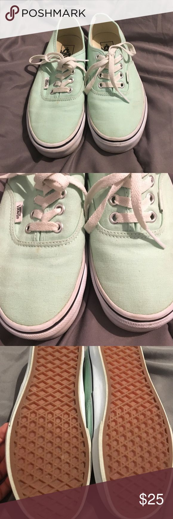 Mint Vans Size 6 Mint vans in women's size 6. Slightly worn. Please see pictures for any markings. Still in good condition. Vans Shoes Sneakers