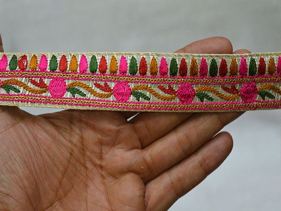 Decorative Trims Embroidered Sewing Trims Costume Fabric Trim