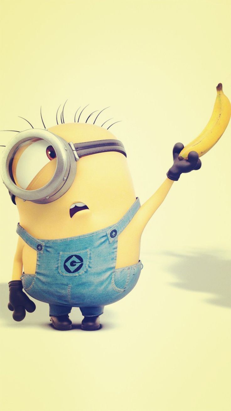 Despicable me inspired yellow minion and banana iphone 6 - Despicable minions wallpaper ...