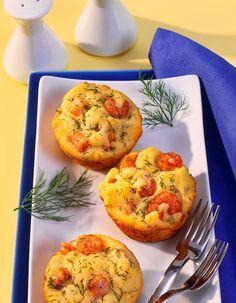 Lachs-Krabben-Dill-Muffins