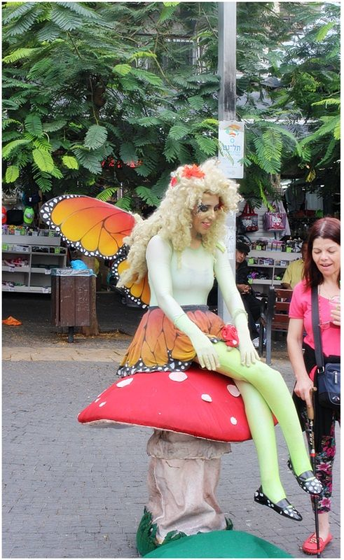 This fairy was in the entrance to the Carmel market