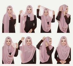 Beautiful chest coverage hijab - i've try this and its easy!