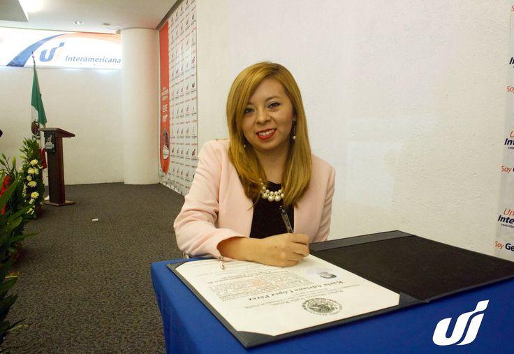 """#UniversidadInteramericana #GenteInter #Licenciatura  TOMA DE PROTESTA. Alumna: Karla Adriana López Pérez, Licenciada en Administración de Empresas Turísticas. Felicidades por haber culminado con éxito sus estudios de Licenciatura. """"El éxito no se logra sólo con cualidades especiales. Es sobre todo un trabajo de constancia, de método y de organización."""" J.  """"Ser un Profesionista Exitoso es Ser Gente INTER"""""""