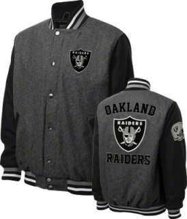 Oakland Raiders Grey Wool Varsity Jacket