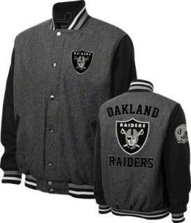 Oakland Raiders Grey Wool Varsity Jacket