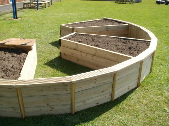 Raised garden stands home raised beds curved bespoke for Circular raised garden bed ideas