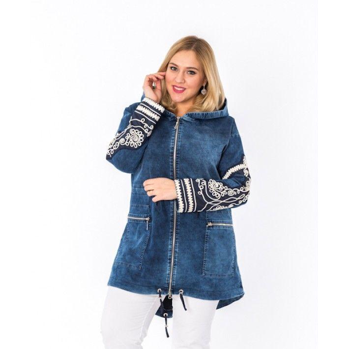 Джинсовые куртки больших размеров [N фото]: джинсовки для полных, летние модели