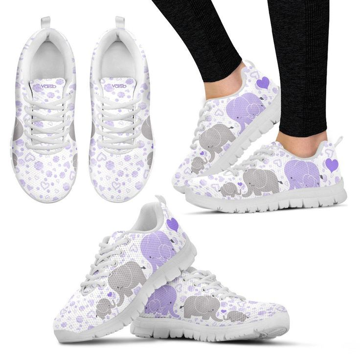 WOMENS Cute Elephant - Breathable & Lightweight Running Shoes