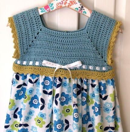 Crochet Girl Sweater Swing Cardigan With Lacy por lesjardinsdevie